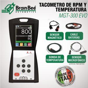 Tacómetro de RPM y temperatura