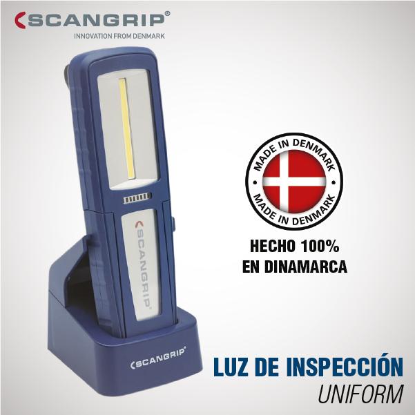 LUZ DE INSPECCIÓN CON BASE SCANGRIP COB LED UNIFORM