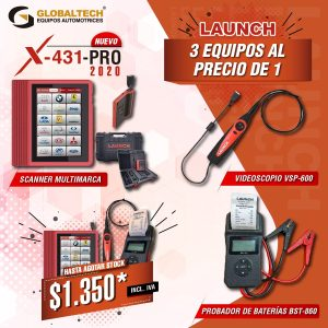Combo diagnostico Launch Escaner
