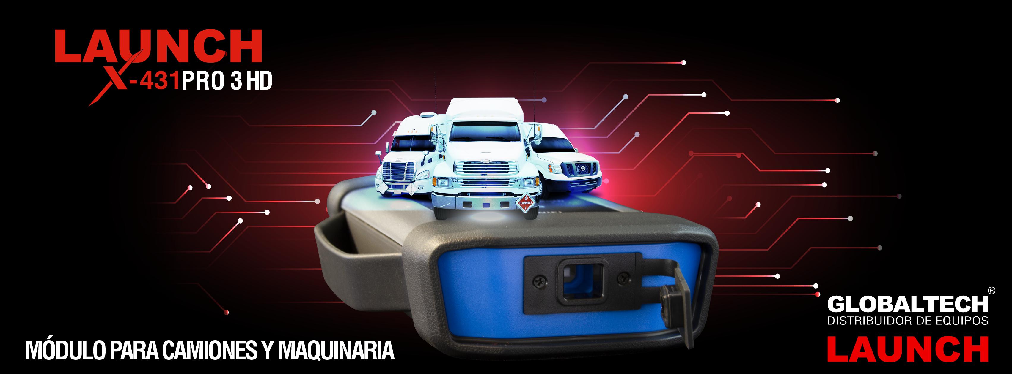 Escáner Profesional LAUNCH X431 PRO 3 HD con Módulo para Camiones